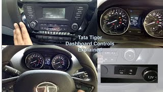 Download Tata Tigor Dashboard Items and Controls Explained. Best family car of india 2018 Video