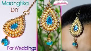 Download How to make maang tikka at home   wedding jewelry   easy   DIY   Artkala 112 Video