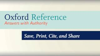 Download How to Use Oxford Reference Video