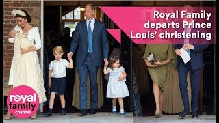 Download Royal Family departs Prince Louis' christening Video
