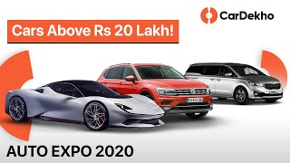 Download Cars Above Rs 20 Lakh You Could See @ Auto Expo 2020 | Kia Carnival, Hyundai Nexo & More! | CarDekho Video