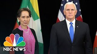 Download Mike Pence Criticizes Myanmar's Leader Over Human Rights Record   NBC News Video