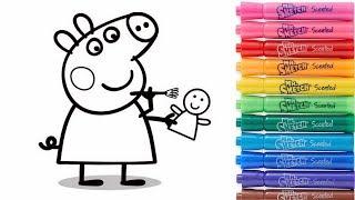 Download ROTULADORES MÁGICOS Descubre los dibujos secretos Peppa Pig Paint Colouring for Kids Video