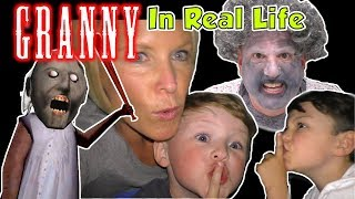 Download Granny Game in Real Life - Escape from Granny's House Kids Skit | DavidsTV Video