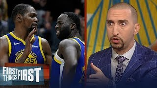 Download Nick Wright is shocked the Warriors suspended Draymond after rift with KD | NBA | FIRST THINGS FIRST Video