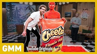 Download Human Flaming Hot Cheeto Challenge Video