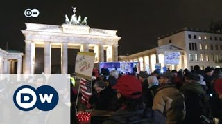 Download Berlin demonstrators protest against Trump | DW News Video