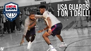 Download USA Basketball 1 on 1 Drill | Team USA Guards Go Head To Head Video