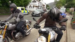Download Bikeworld Ride BMW RnineT and Triumph Thruxton R with Knox Video