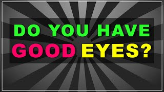 Download Do you have good EYES? (test with answers) Video