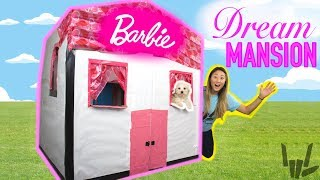 Download DIY LIFE SIZE BARBIE BOX FORT DREAM HOUSE!! Learn How to Make a Cardboard Dollhouse Video