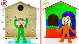 Download SUPERHERO BABY BUILDS PLAYHOUSE 💖 Play Doh Cartoons For Kids Video