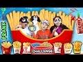 Download French Fry Challenge w/ SRIRACHA HOT SAUCE PRANK! (FUNnel Vision Blind-Folded Taste Test Game) Video