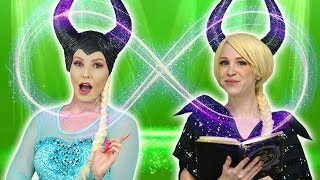 Download ELSA AND MALEFICENT SWITCH PLACES. What Happens when a Spell is on Elsa and Maleficent. Video