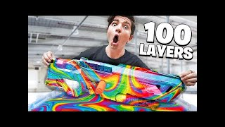 Download We Hydro Dipped a Nerf Blaster 100 Times! (100 Layers Challenge) Video