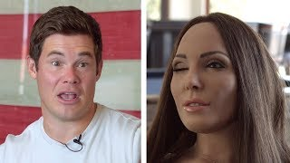 Download Whitney Cummings' robot Tries to Interview Adam Devine Video