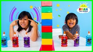 Download Twin Telepathy Slime Challenge Ryan vs. Mommy! Video