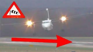 Download Sturm Friederike - Grandiose Pilotenleistung am Airport Düsseldorf bei bis zu 110 km/h Seitenwind Video