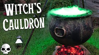Download DIY Halloween Props - Bubbling Witch's Cauldron with Glowing Coals Video