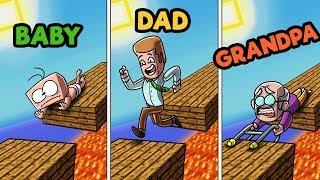 Download Minecraft - FAMILY FEUD CHALLENGE! (BABY vs. DAD vs. GRANDPA) Video