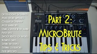 Download Arturia MicroBrute Synth Tips and Tricks Part 2 Video
