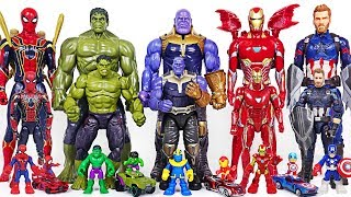 Download Marvel Infinity War Avengers bigger and smaller transform! Hulk, Thanos, Spider Man! - DuDuPopTOY Video