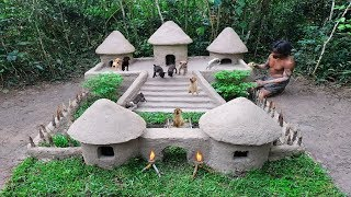 Download Rescue Abandoned Puppies Building Mud Dogs House With Swimming Pool Video