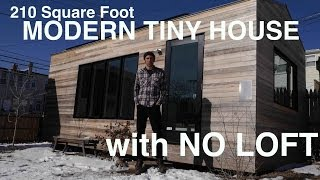 Download Brian Levy's 210 Square Foot MODERN Tiny House- WITH NO LOFT! Video
