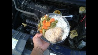 Download How To Cook Cheap Dollar Tree Food Using Car Engine While Driving (V836) Living In A Van Video