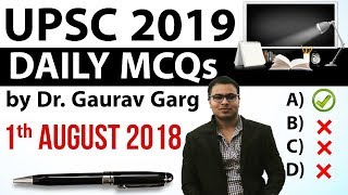 Download UPSC 2019 Preparation - 1 August 2018 Daily Current Affairs for UPSC / IAS 2019 by Dr Gaurav Garg Video