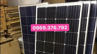 Download Pin mặt trời 100W Mono vừa mới mua !!! Video