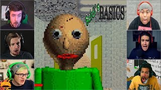 Download Gamers Reactions to Angry Baldi (JUMPSCARE) | Baldi's Basics Video