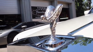 Download Rolls Royce phantom Limousine Gets Wrapped in Pearl White Video