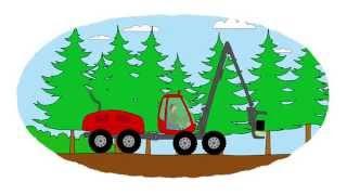 Download Das Zeichentrick-Malbuch - Traktoren, die im Wald arbeiten Video