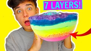 Download GIANT 7 LAYERS OF SLIME! MIXING ALL MY FLUFF, CRUNCHY, CLOUD SLIME! DIY SLIMESMOOTHIE! Video
