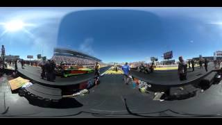 Download 360-Degree look at an NHRA Top Fuel Dragster launch at 300+mph Video