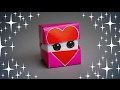 Download DIY - ORIGAMI FACE HEART CUBE - TUTORIAL / GIFT IDEAS Video