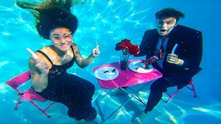 Download UNDERWATER DATE WITH MY CRUSH!! ❤️ Video