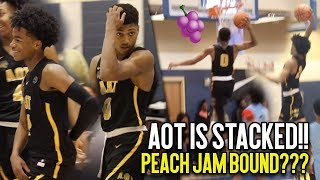Download AOT IS COMING FOR THE PEACH JAM!!! AAU Super Team Is LOADED With Talent!! Final 4 Tip Off Highlights Video