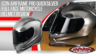 Download Icon Airframe Pro Quicksilver Full Face Motorcycle Helmet Review Video