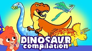 Download Learn Dinosaurs for Kids   T-Rex Triceratops Cartoon Dinosaur videos   Club Baboo Video