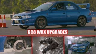 Download GC8 WRX gets More Power, Improved Gear Ratios and Better Brakes - Budget Track Hack Video