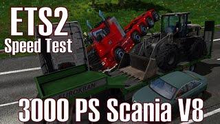 Download ETS2 v1.24 ★ 3000 PS Scania V8 ★ Speed Test [Deutsch/HD] Video