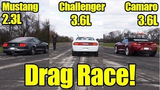 Download 3-Way Battle! Mustang vs Camaro vs Challenger Drag Race! Its Kunes Country Prize Fights Video