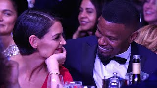 Download Katie Holmes and Jamie Foxx Look Smitten in Rare Public Appearance Ahead of GRAMMYs Video