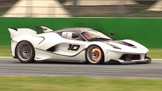 Download Ferrari FXX K In Action at Monza for the First Time!! - Downshifts, Flames, Glowing Brakes More!! Video