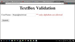 Download TextBox validation in Javascript | Username validation using Javascript in Hindi Video