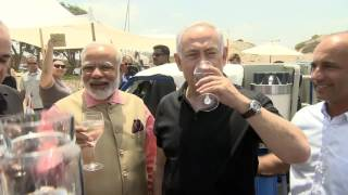 Download PM Netanyahu and Indian PM Modi Attend Demo of Mobile Desalination Unit Video