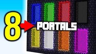 Download Minecraft 8 PORTALS! Video