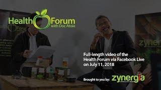 Download Health Forum via Facebook Live | July 11, 2018 Video